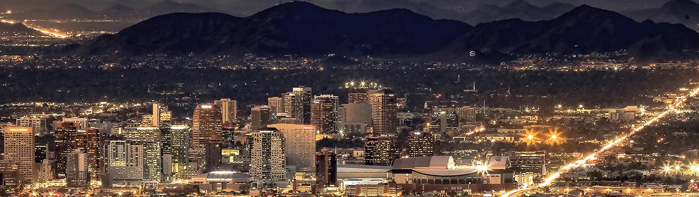 Phoenix city at night
