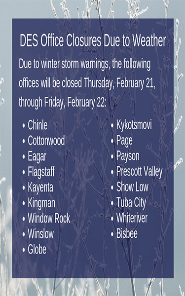 Winter Storm Warning Office Closures
