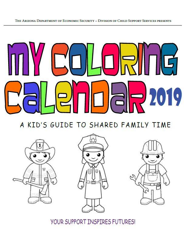 My Coloring Calendar 2019