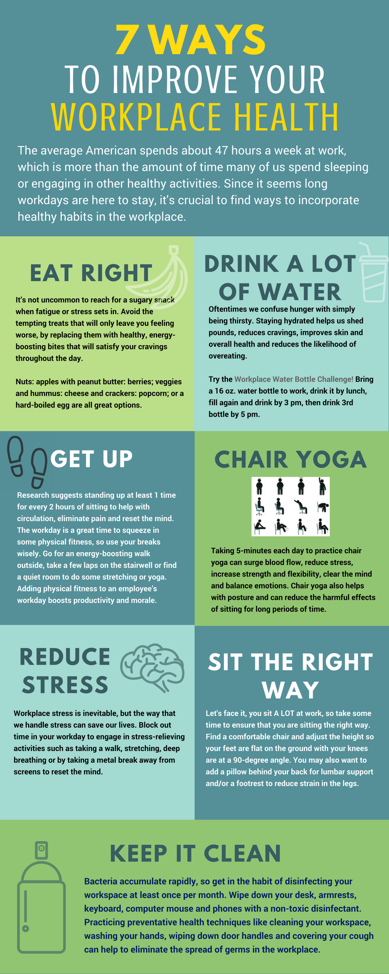 7 Ways to Improve Your Workplace Health infographic