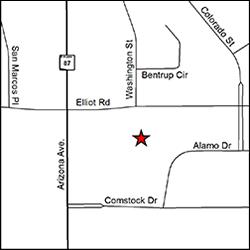 Mapa de la ubicación de la oficina del DES en Chandler