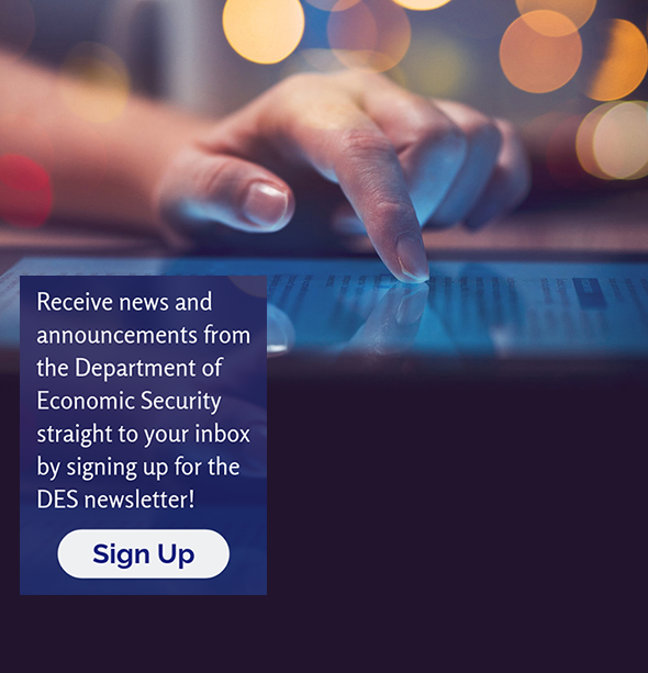 DES newletter sign-up