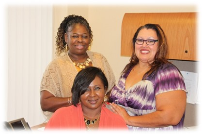 Deva Taylor and two colleagues