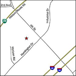 Mapa de la ubicación de la oficina del DES en Flagstaff