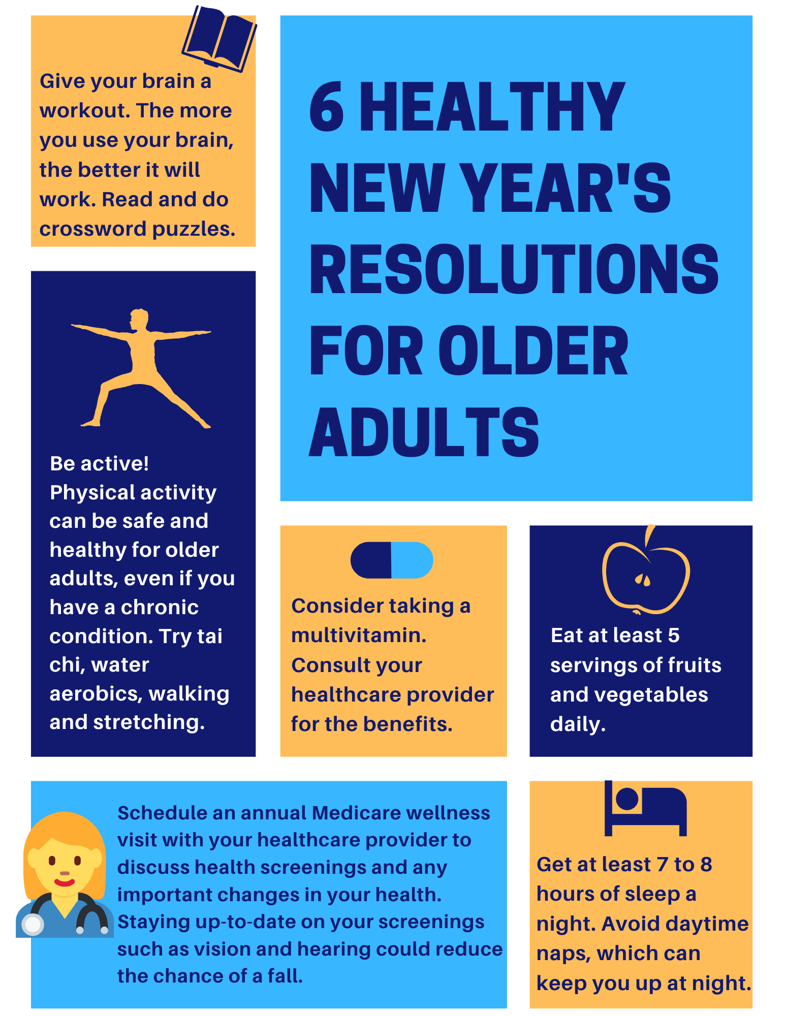 6 Healthy New Year's Resolutions for Older Adults