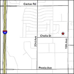Mapa de la ubicación de la oficina del DES en Phoenix