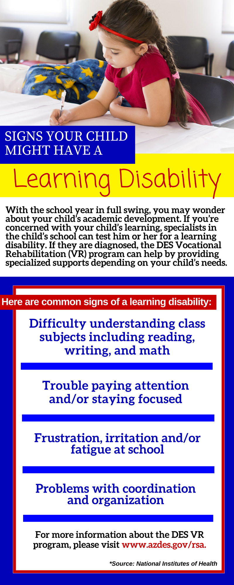 Information about learning disabilities in children