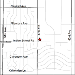 DES West Phoenix Office location street map