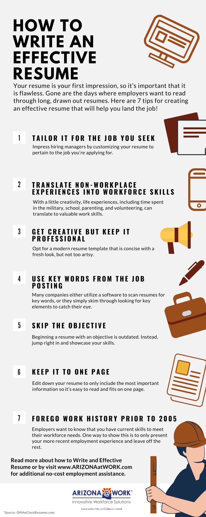 Information about how to write an effective resume