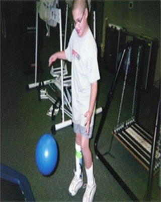 Young man at one of his occupational therapy session