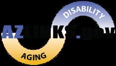 Logotipo del sitio web de AZLinks.gov que es operado por el Centro de Recursos para Adultos Mayores y Personas Discapacitadas