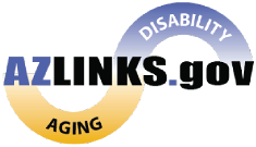 Logo for the website AZLinks.gov that is run by Arizona's Aging and Disability Resource Center