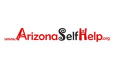 Logotipo para el sitio web arizonaselfhelp.org que es operado por la Asociación de Acción Comunitaria de Arizona