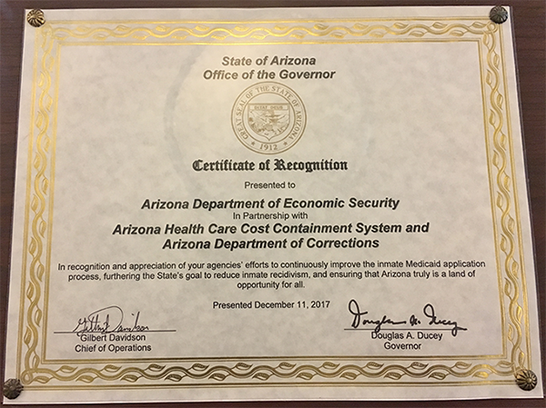 DES Team Receives Good Government Award from Governor ...