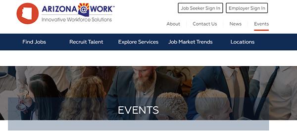 ARIZONA@WORK website - Events page heading