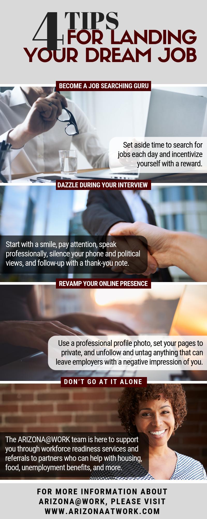 Four Tips for Landing Your Dream Job