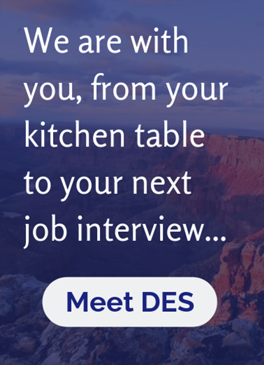 We are with you, from your kitchen table to your next interview... Meet DES