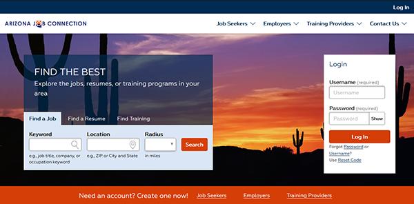 Arizona Job Connections - Job Search screenshot