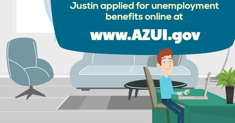 Cartoon - Apply for Unemployment Benefits