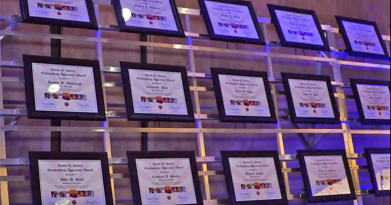 Display of award plaques