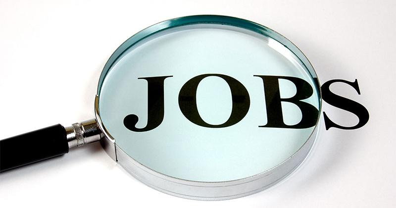 the word 'job' under a magnifying glass