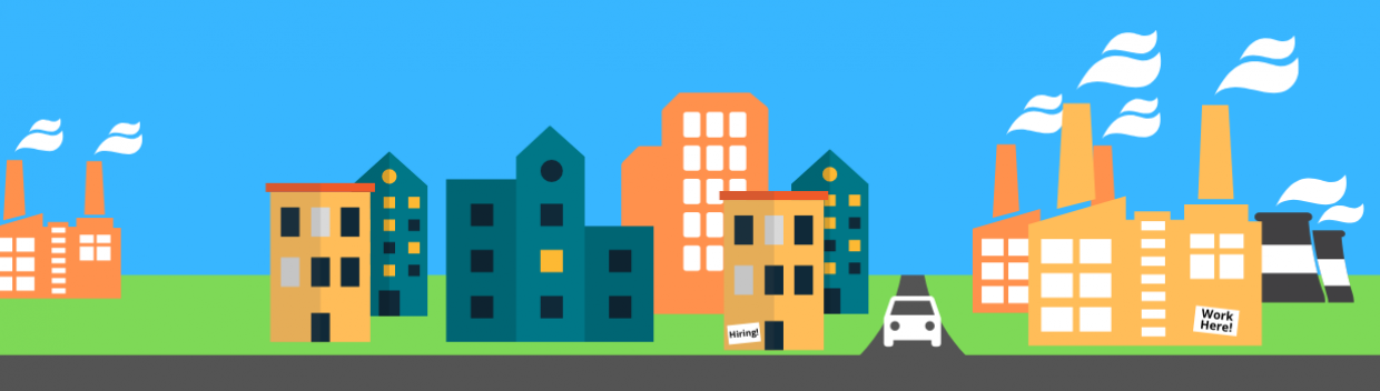 office buildings, warehouses and factories