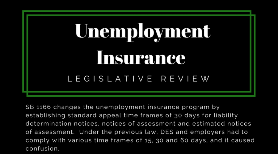 Unemployment Insurance - Legislative Review