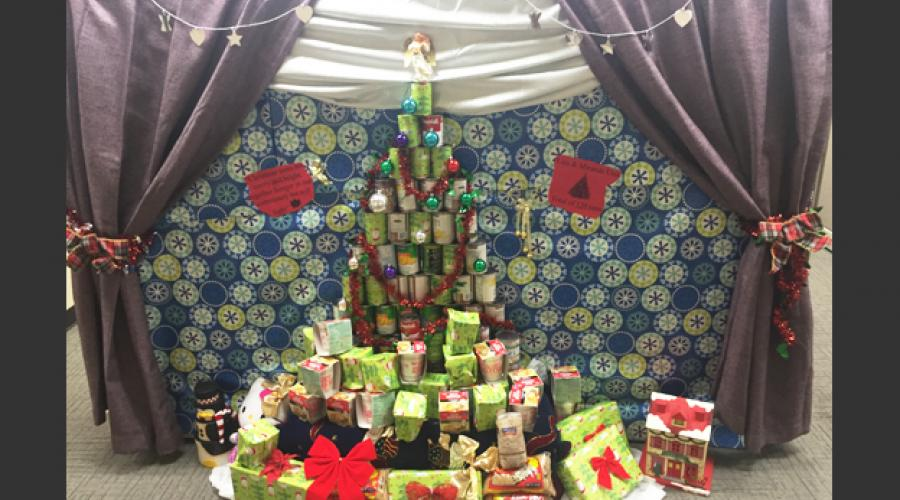 Division of Developmental Disabilties Canned Food Christmas Tree