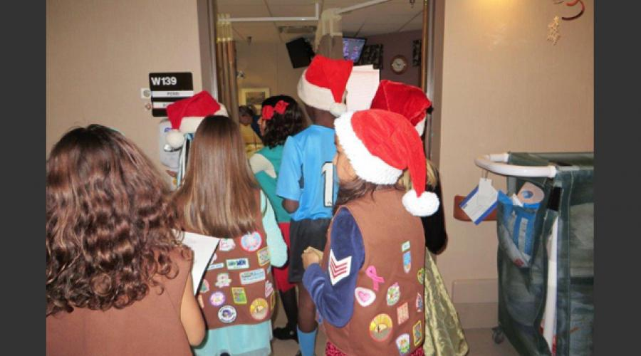 Aging & Adult Services, Girl Scouts go to VA hospital 2