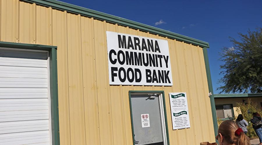 outside pictures of buildng Marana Community Food Bank